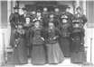 Early Picture of Ladies Dressed in Fine Attire