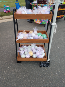 A Cart Full of  Homemade Bath Bombs