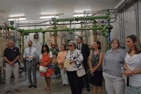 People Partaking in Dedication Ceremony Tour of the Stonewall Water Treatment Plant in 2012